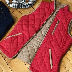 Vest tan and pink Reversible